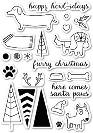 Memory Box - Clear Stamp Set - Santa Paws
