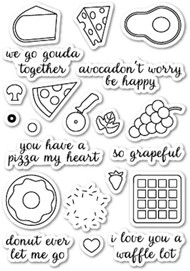 Memory Box - Clear Stamp Set - We Go Gouda Together