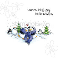 Stamping Bella - Woodsies Warm and Fuzzy Penguins (EB322) 1