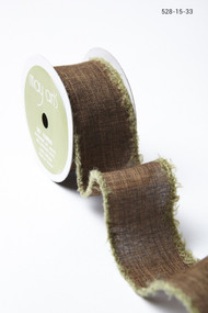 May Arts - Linen w/Fuzzy Edge (wired)  - Brown/Green