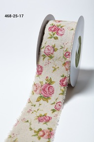 "May Arts - Cotton Blend 2.5"" - Vintage Inspired Pink Floral"