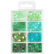 Craft Medley Cup Sequins - Go Green (GC457C)