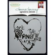 Donna Downey Stencil 8.5 x 8.5 - Heart Texture (DD-057)