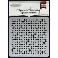 Donna Downey Stencil 8.5 x 8.5 - Grunge Halftone Dots (DD-030)