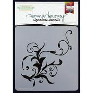 Donna Downey Stencil 8.5 x 8.5 - Flourish #1 (DD-060)
