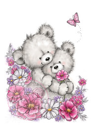 Wild Rose Studio Clear Stamp - Bear Hugs (CL485)