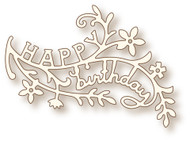 Wild Rose Studio Cutting Die - Birthday Branch (SD064)