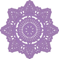 Prima Marketing Purple Metal Die - Crochet Doily