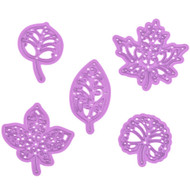 Prima Marketing Purple Metal Die - Forest Leaves 6 Pk