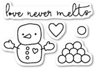 Poppystamps - Love Never Melts - Clear Stamp Set (PS-CL418)