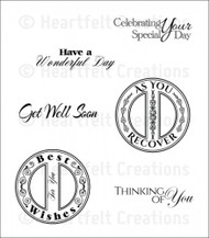 Heartfelt Creations Heartfelt Sentiments Cling Stamp Set (HCPC-3673)