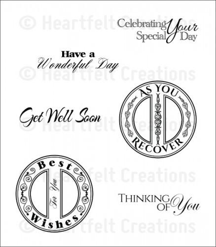 Heartfelt Creations Heartfelt Sentiments Cling Stamp Set (HCPC-3673)