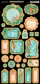 Graphic 45 - Voyage Beneath the Sea - Journaling Chipboard (4501333)