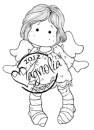 Magnolia Rubber Stamp LITTLE TILDA