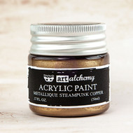 Prima Marketing - Art Alchemy-Acrylic Paint - Metallique Steampunk Copper 1.7oz (PM-963064)