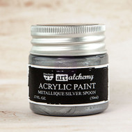 Prima Marketing - Art Alchemy-Acrylic Paint - Metallique Silver Spoon 1.7oz (PM-963101)