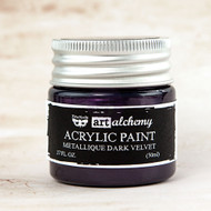 Prima Marketing - Art Alchemy-Acrylic Paint - Metallique Dark Velvet 1.7oz (PM-963125)