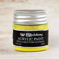 Prima Marketing - Art Alchemy-Acrylic Paint - Metallique Pure Sunshine 1.7oz (PM-963187)