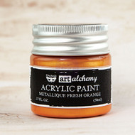 Prima Marketing - Art Alchemy-Acrylic Paint - Metallique Fresh Orange 1.7oz (PM-963194)