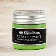 Prima Marketing - Art Alchemy-Acrylic Paint - Metallique Lime Peel 1.7oz (PM-963224)