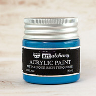 Prima Marketing - Art Alchemy-Acrylic Paint - Metallique Rich Turquoise 1.7oz (PM-963231)