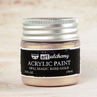 Prima Marketing - Art Alchemy - Acrylic Paint Opal Magic - Rose-Gold 1.7oz (PM-963620)