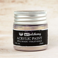 Prima Marketing - Art Alchemy - Acrylic Paint Opal Magic - Violet-Gold 1.7oz (PM-963637)