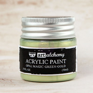 Prima Marketing - Art Alchemy - Acrylic Paint Opal Magic - Green-Gold 1.7oz (PM-963651)