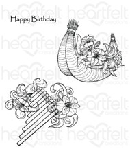 Heartfelt Creations Cling Stamp Set - Flute (HCPC-3724 )