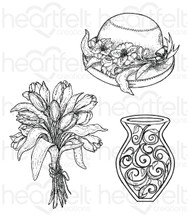 Heartfelt Creations Cling Stamp Set - Bouquet (HCPC-3723 )
