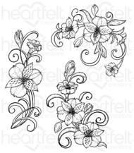 Heartfelt Creations Cling Stamp Set - Swirls (HCPC-3722 )