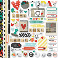 Simple Stories - Life in Color - Fundamentals Cardstock Stickers (SS-5002)