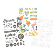 Simple Stories - You Are Here! - Clear Stickers (SS-6233)