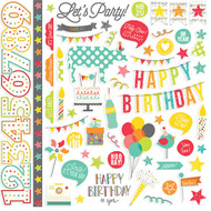 Simple Stories - Let's Party - Fundamentals Cardstock Stickers (SS-5302)