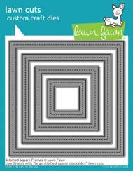 Lawn Fawn - Stitched Square Frames Lawn Cuts (LF1143)