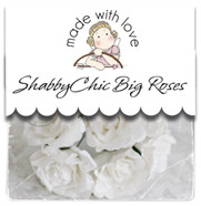 Magnolia Shabby Chic PAPER FLOWER BIG ROSE WHITE