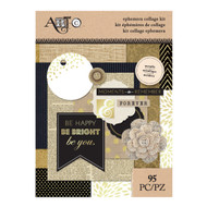 ArtC Ephemera Collage Kit - Metallic 95 pc (25072)