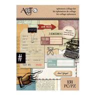 ArtC Ephemera Collage Kit - Office Space 131 pc (25069)