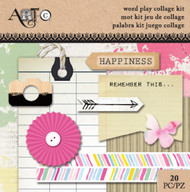 ArtC Ephemera Collage Kit - Word Play Small Kit