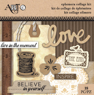 ArtC Ephemera Collage Kit - Love Small Kit