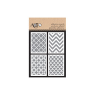 ArtC Adhesive Stencil Set - 3 x 4 Set of 4 - Patterns
