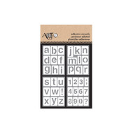 ArtC Adhesive Stencil Set - 3 x 4 Set of 4 - Lower Case Alphabet