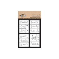 ArtC Adhesive Stencil Set - 3 x 4 Set of 4 - Inspirational