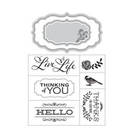 ArtC Stamp & Die Combo - ATC Live Life (24665)