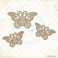 Blue Fern Studios - Chipboard - Bohemian Butterflies