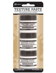 Ranger Texture Paste Assortment - 3 - 1 oz Jars