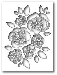 Memory Box - Craft Die - English Rose Collage