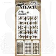 Tim Holtz Mini Layering Stencil - Set 9