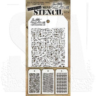 Tim Holtz Mini Layering Stencil - Set 14
