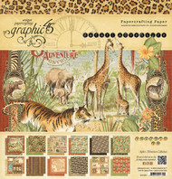 Graphic 45 - Safari Adventure - 12x12 Paper Pad
